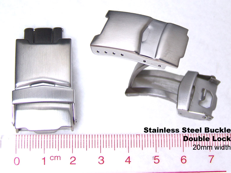 (CLASP20-001BSP) 20mm Stainless Steel Watch Parts Divers Clasp buckle