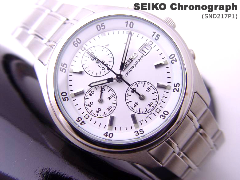 low priced 18ed7 a9262 SEIKO SND217P1*1/20sec Chronograph power by Japan 7T92 ...
