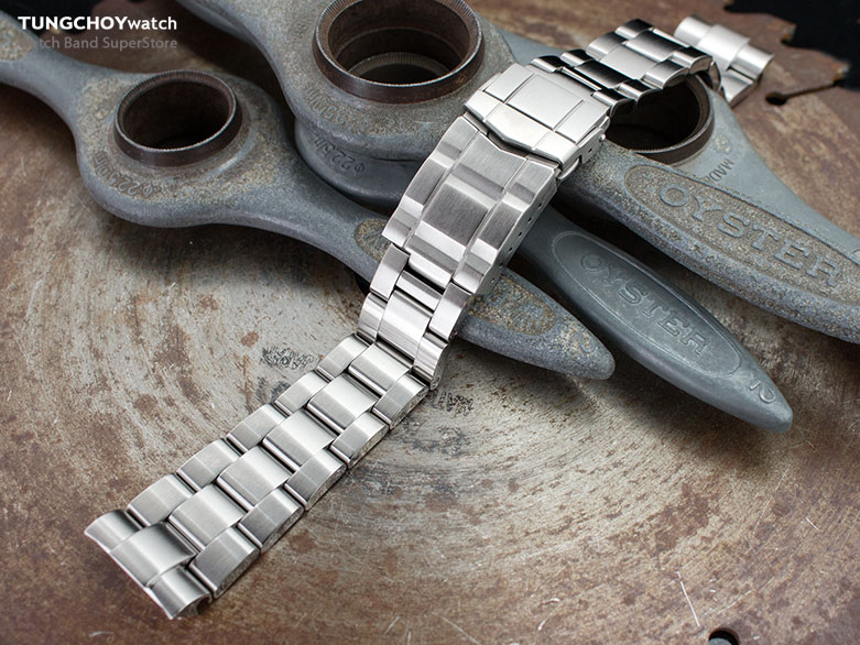 22mm Super 3D Oyster 316L Stainless Steel Watch Bracelet for Seiko New Turtles SRP777, Submariner Clasp Brushed