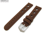 Silicon Choco 3 Punch Holes with Choco Stitches 22mm Watch Strap, PVD Black Buckle