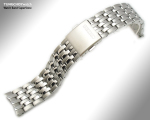 21mm Original SEIKO 4A4Z1-C-W Solid Link Stainless Steel Bracelet
