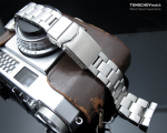 22mm Super Oyster 316L Stainless Steel Watch Bracelet for Seiko New Turtles SRP777, Button Chamfer Clasp Brushed