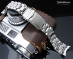 22mm Hexad Oyster 316L Stainless Steel Watch Band for Seiko SKX007, V-Clasp Button Double Lock